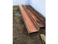 2 steel beams 150 cm x 12cm x 18cm