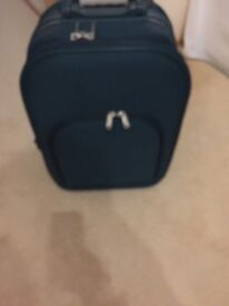 Cabin luggage green suitcase