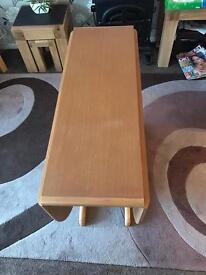 Gateleg folding dining table with 4 chairs