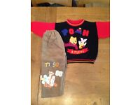 Winnie the Pooh trousers and jumper Aged 2-3 (age two to three, clothes bundle)