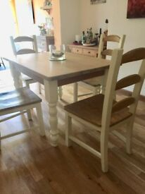 Country Cottage style table and 4 chairs