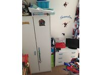FREE kids white bedroom furniture set (wardrobe, drawers and chest) - needs to go today