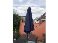 Blue rectangular parasol -wayfair