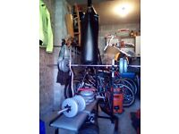 Weights , bench, mat and punch bag. Very good condition.