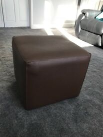 "Footstool pouffe modern stylish and cost effective cube design 18""height,18""width18""length."