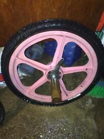 "Rare vintage skyway mag wheel rear (pedal back break) bmx 20"""