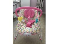 Musical and vibrating baby chair