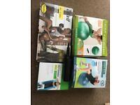 Assorted workout equipment
