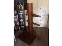 Wooden Dummy Wing Chun Martial Arts solid wood free standing easy assembled and stored
