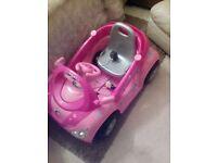 pink electric car.