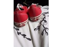 Red Vans size Four