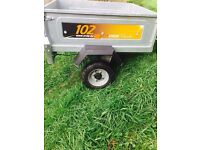 trailer + car roof box + car roof bars for vauxall zafria