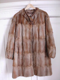 Vintage genuine fur coat size 10-12