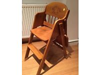 Miffy Kid's solid wooden highchair with table