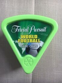 Trivial Pursuit World Football Bite-size card game by Hasbro