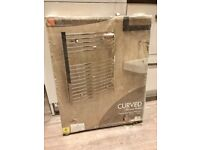Kudox New Curved Chrome Towel Warmer and electric heating element included