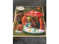 Toadstool baby pool £5