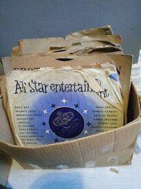 Box of shellac records 78 rpm