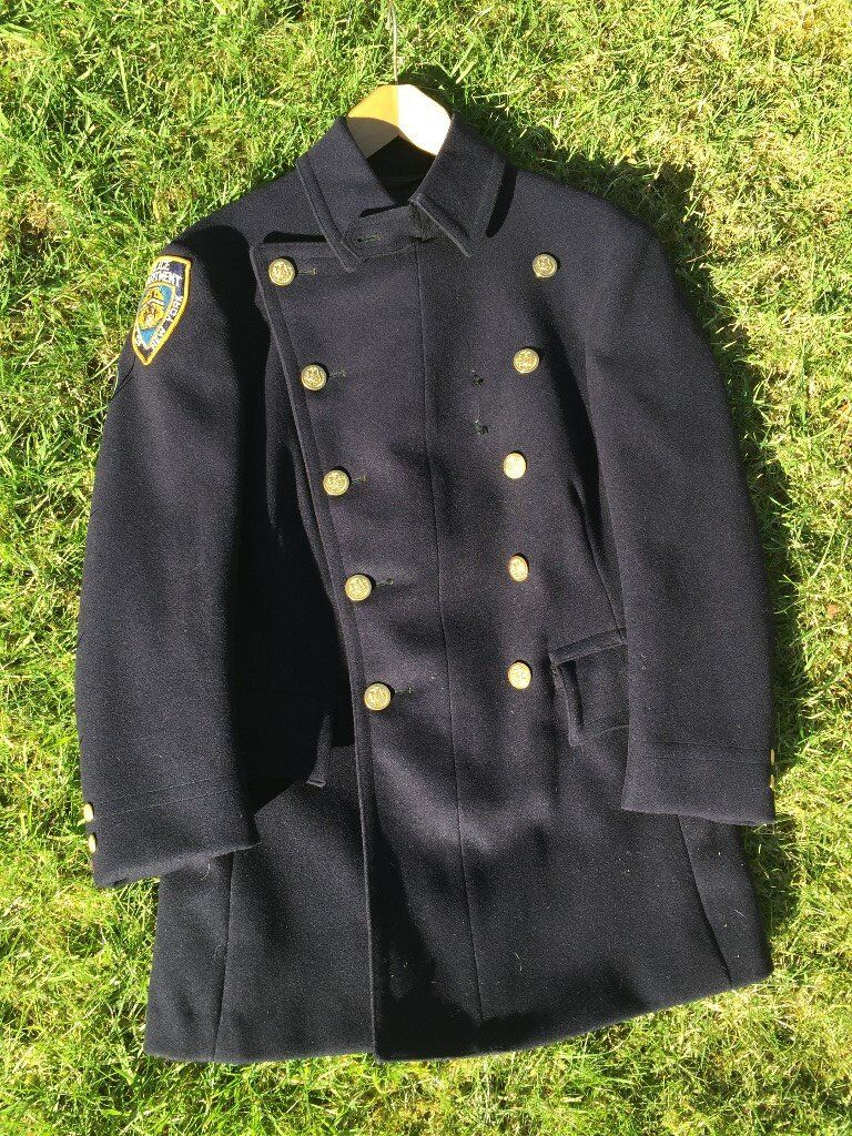 """Genuine NYPD old style mens 'Ceromonial choker jacket' (around 38"""" chest)"""