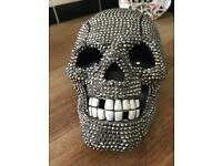 Diamond encrusted SKULL Phone for Halloween