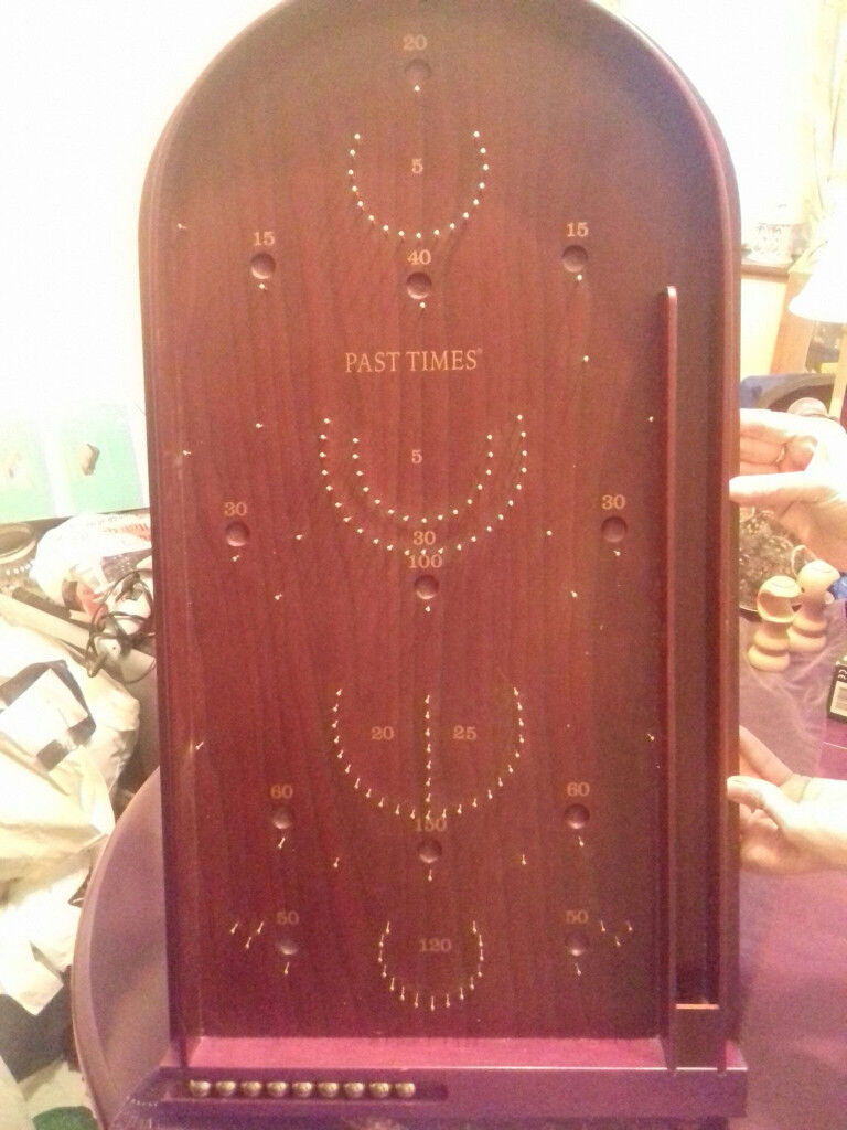 Pasttimes bagatelle wooden game