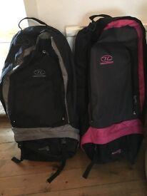 Highlander 90 litres rucksack in pink & black