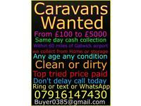 Caravan's wanted for cash