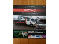 CAR & van recovery Breakdown Service 24hr towing service