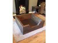 Chunky Wooden Dog Bed