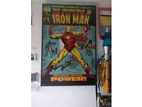 Vintage Painted Wooden Marvel Poster(s)