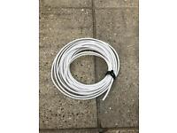 Roll of white Coaxial Cable.