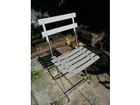 4x Habitat Outdoor Metal Chairs