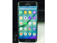 Samsung Galaxy S6 Edge Phone 32GB Green Unlocked Used Very Good Condition. mobile smart phone