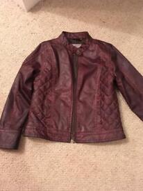 Next leather look coat