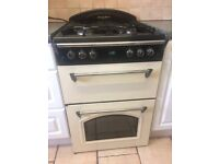 Cream gas cooker double oven