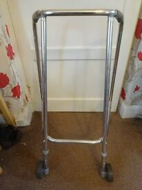 Adjustable lightweight Wheeled Walking Zimmer Frame Easy to grip handles only £5
