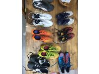 Collection of football boots