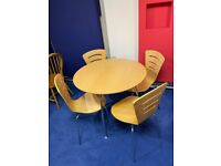 Round Dining Table and 4 Chair Set