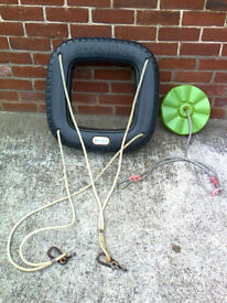 Swing accessories, Little Tikes tyre swing, £15, & Disc Swing £7, £20 for Both, in ex con, Private s