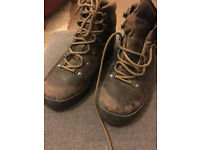 Scarpa GoreTex Brown Leather Hiking Boots