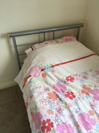 SILVER FRAME SINGLE BED