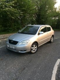 Toyota Corolla 1.4vvti-low mileage-2 former keepers-timing chain