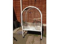 Large white parrot cage £35