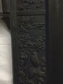 Cast iron Victorian fire surround with insets