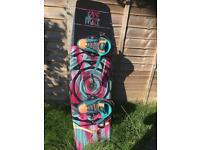 Jobe Grace 134 Wakeboard with Slingshot Jewel Bindings