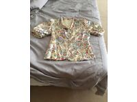 Vintage painted silk-satin jacket