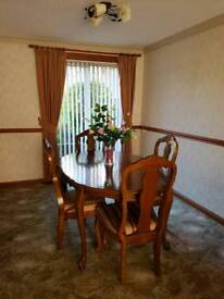 Dining Table, beautiful wood sits 4 to 6