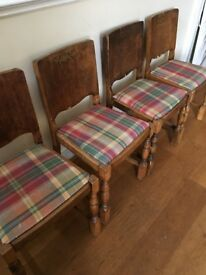 4 x Dining Chairs - would make good restoration project
