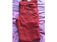 Women's H&M Burnt Orange Skinny Chinos