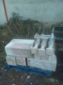 30 metres of bollard wall for sale